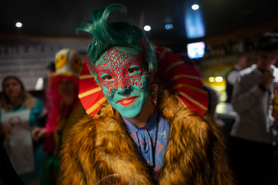 Une diva en fourrure au Carnaval de Monthey