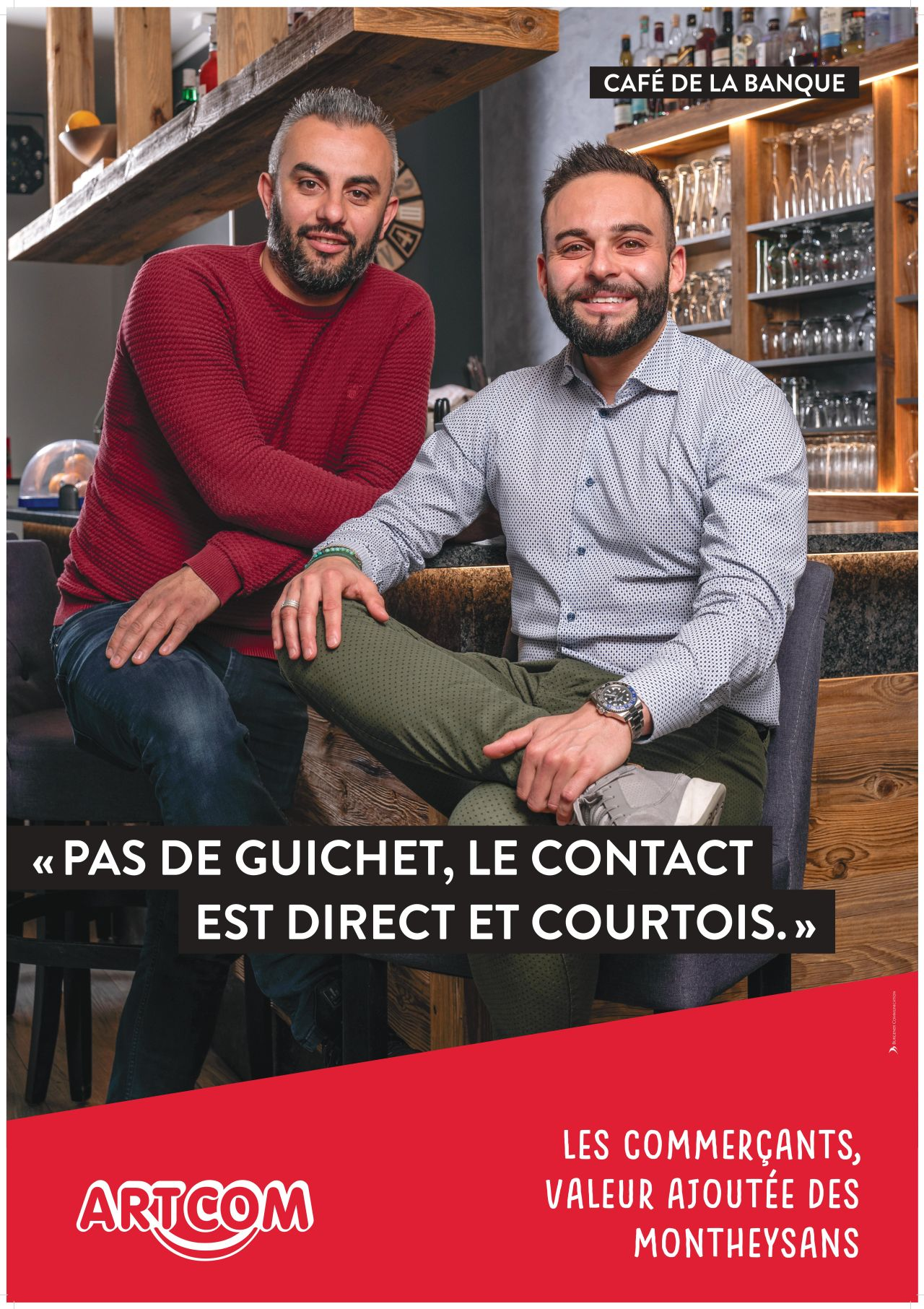 Affiche Café de la banque