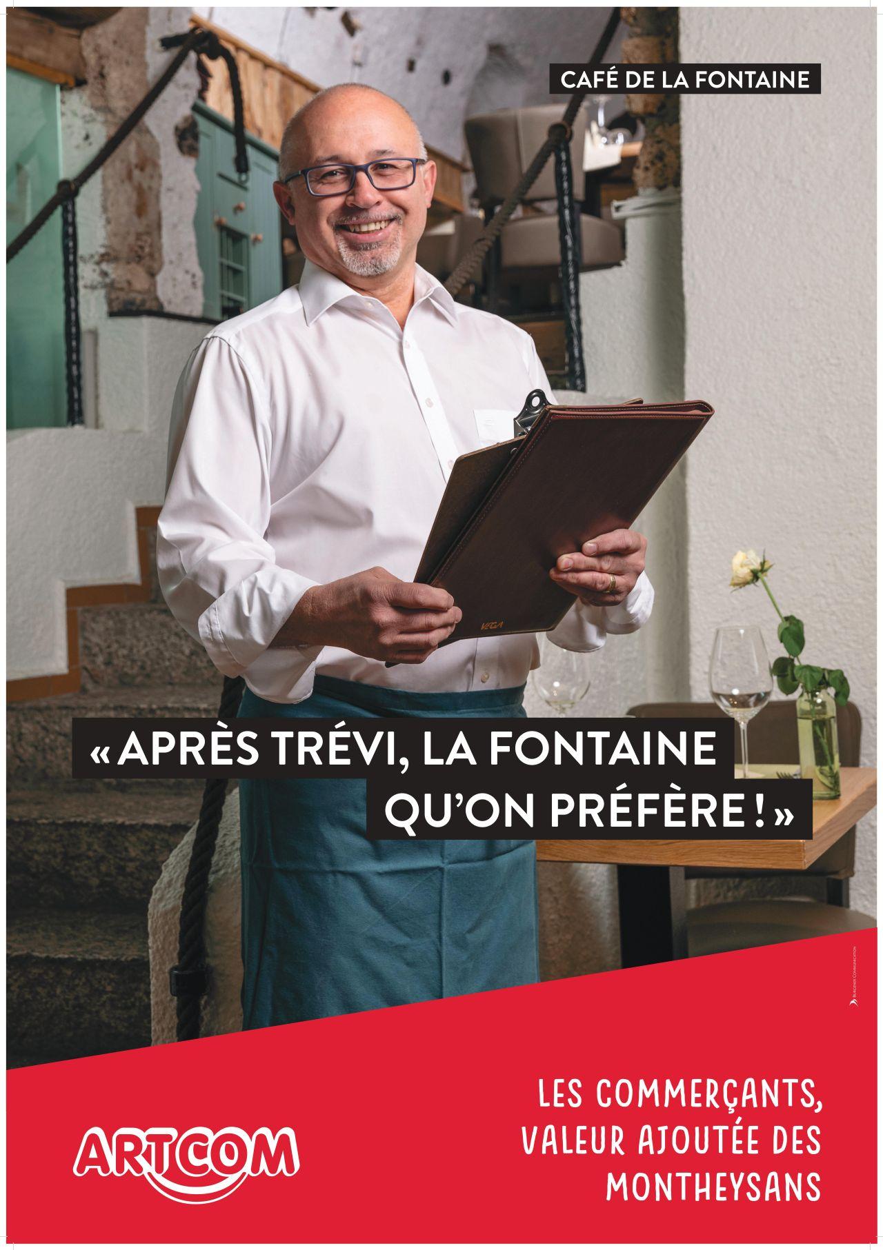 affiche la café de la Fontaine