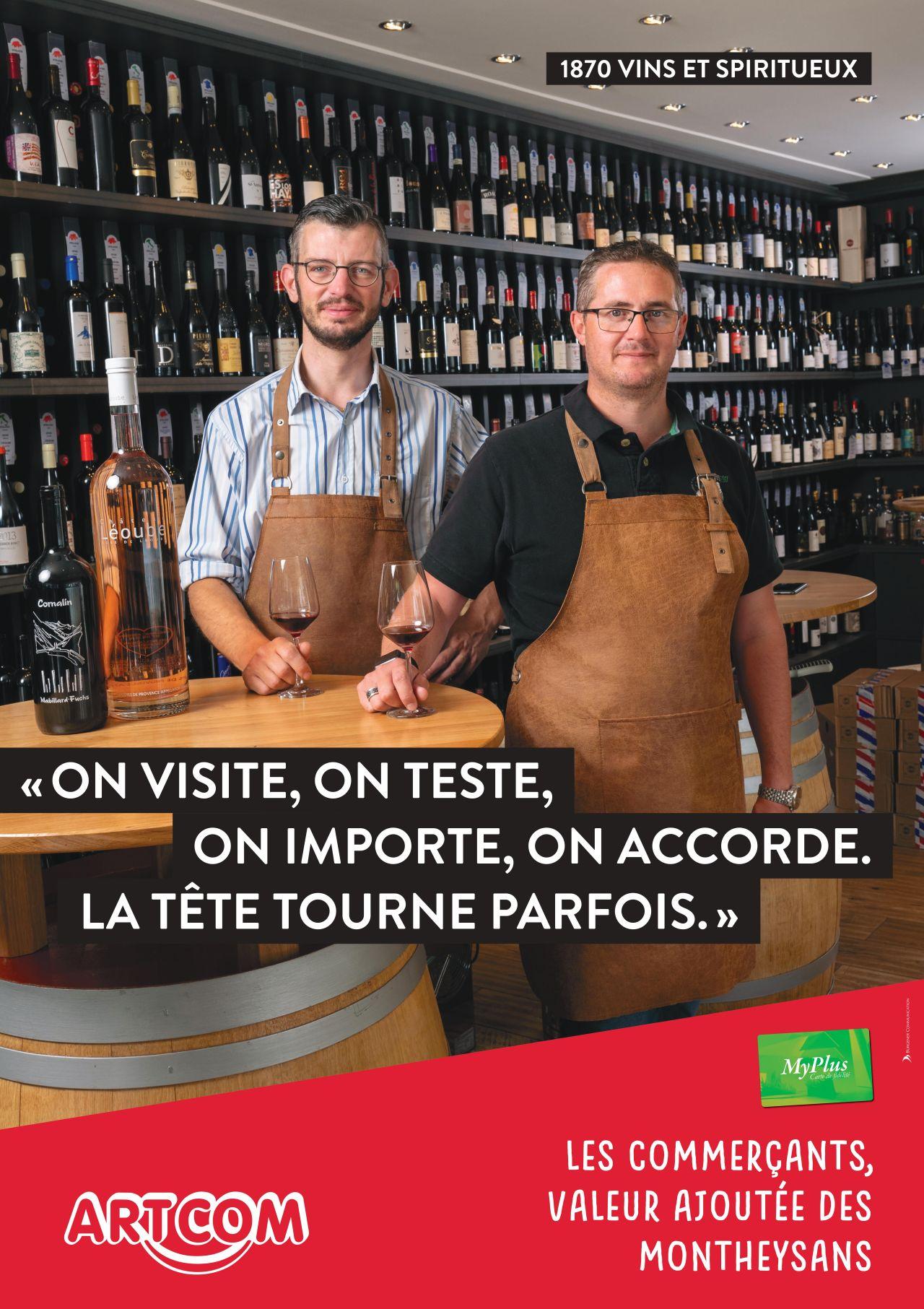 Affiche 1780 vins et spiritueux