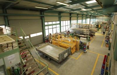 L'entrepôt de la Société Bühler Electricité à Monthey.