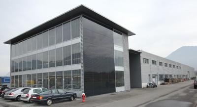 Le bâtiment de la Société Bühler Electricité à Monthey.