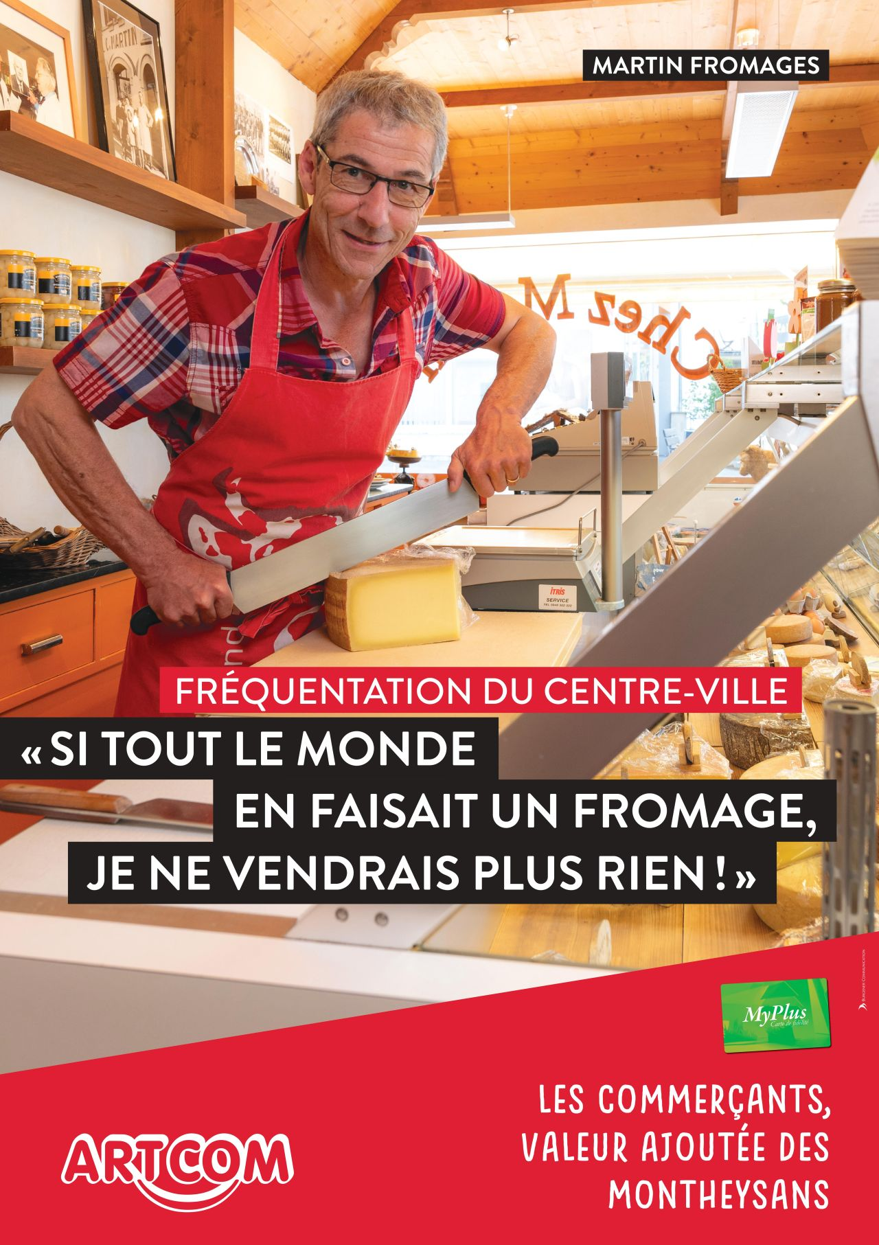 Affiche Martin fromages