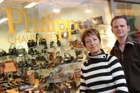 Philippe Kappeler et Barbara Alder de Chaussures Philippe à Monthey