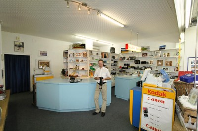Philippe Pot prêt pour un prochain reportage photographique à Monthey