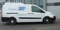 La camionnette de la Société SAVEM à Monthey