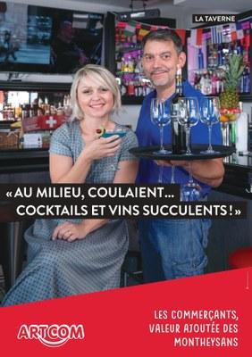 Au milieu, coulaient... cocktails et vins succulents !