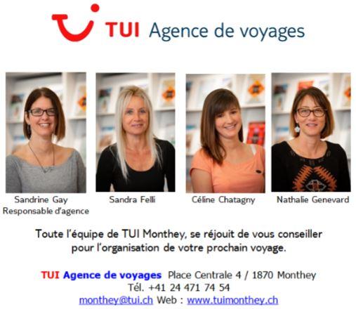 La nouvelle équipe TUI Monthey